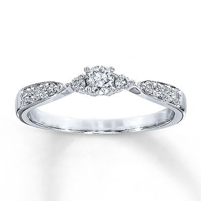 Diamond Promise Ring 1/4 ct tw Round-Cut  10K White Gold (From Kay's). This would be my dream Promise ring right here!!