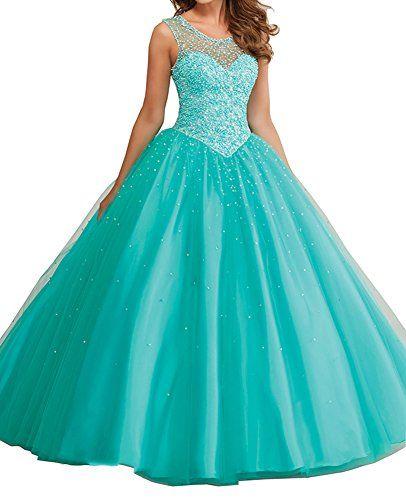 Elley Women's Jewel Sheer Straps Beaded Bodice Prom Sweet 16 Birthday Ball Gown Quinceanera Dress Green US2 Elley http://www.amazon.com/dp/B01ABUJHRK/ref=cm_sw_r_pi_dp_0rNSwb1MXBFRV