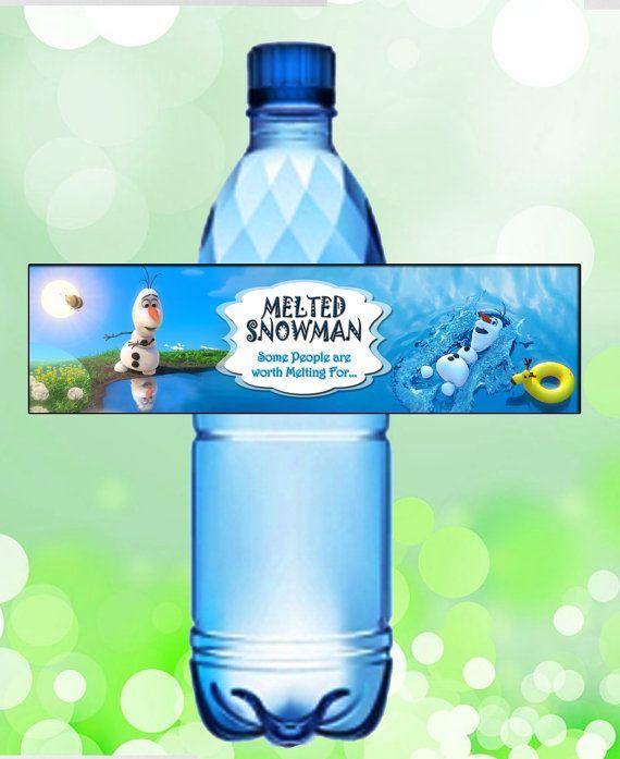 Disney Frozen Olaf Summer Bottle Label