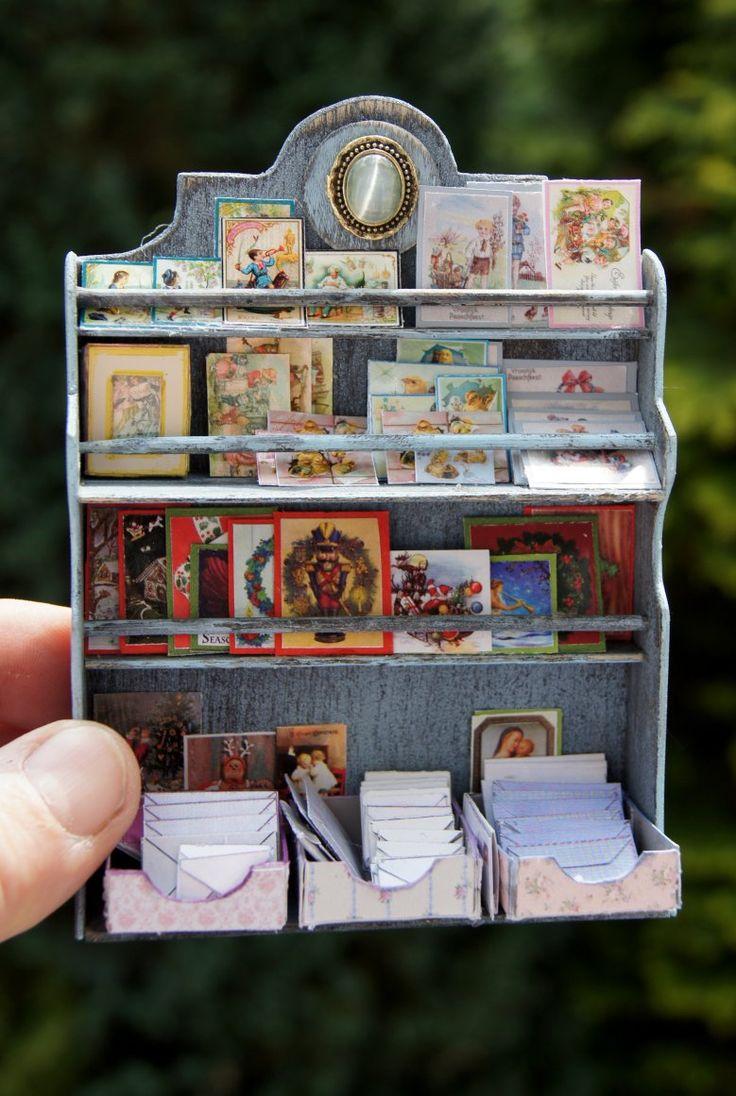les petits papiers big cards display tutorial on my blog miniatures de nonomininostalgie. Black Bedroom Furniture Sets. Home Design Ideas