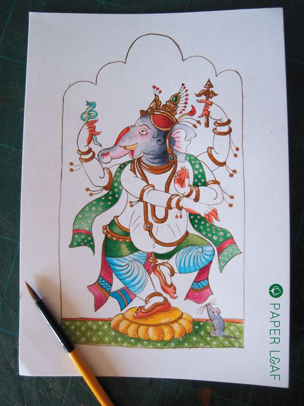 Ganesha | Acrilico su cartoncin Canson | Acrylic color on Canson cardstock