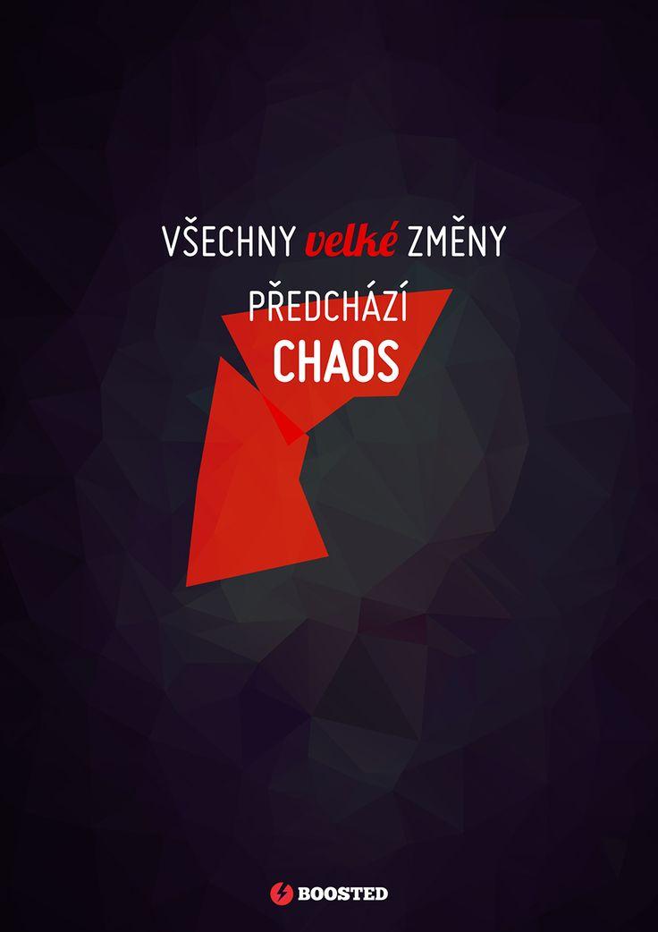 Motivační plakát Chaos (Česky)