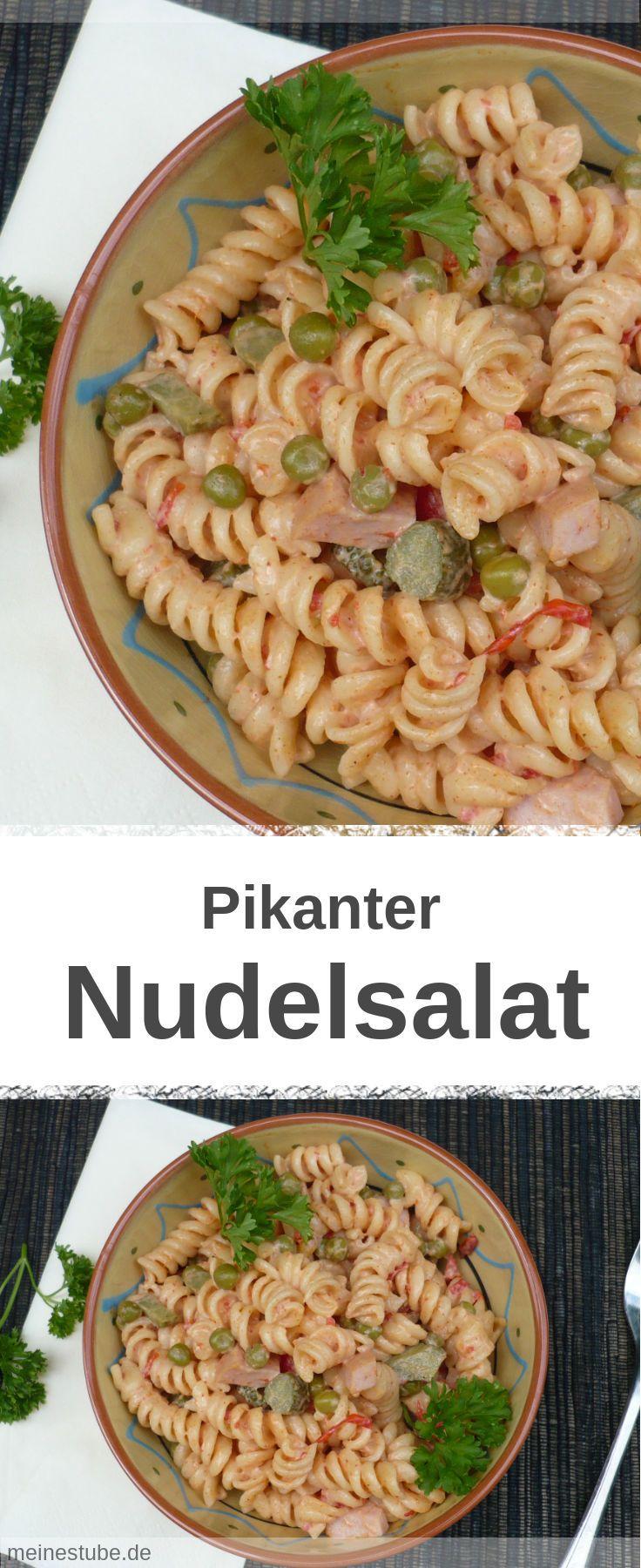 Der beste Nudelsalat pikant, ideal als Grillbeilage