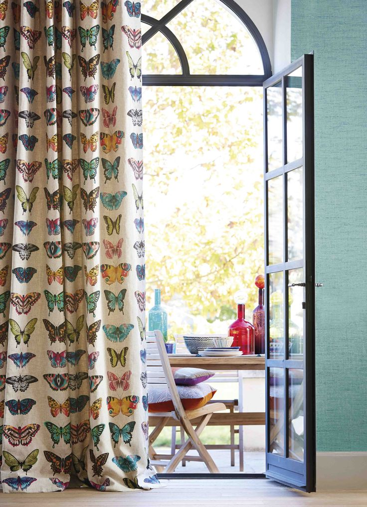 Papilio is a striking fabric from Harlequin's Amazilia collection which features striking butterflies.
