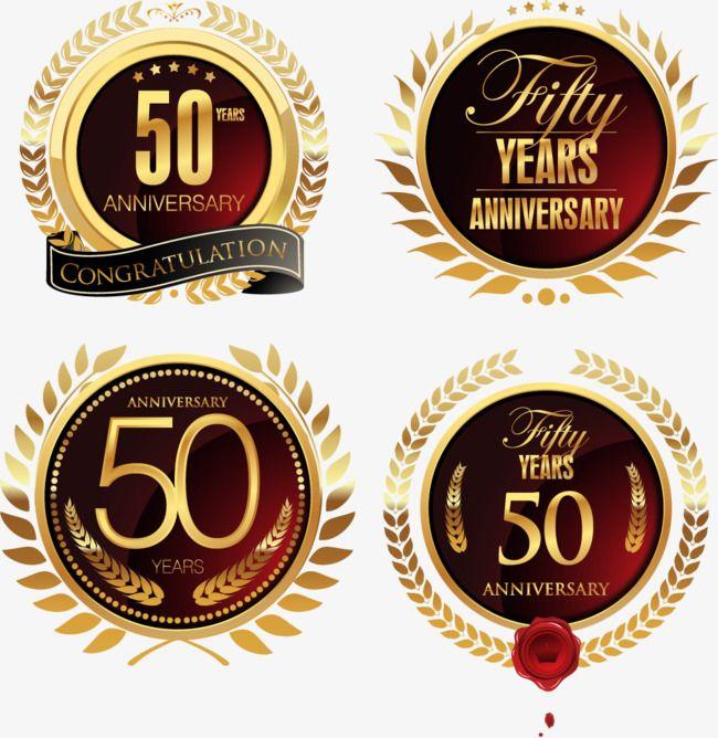 ناقلات احتفال شارة الذكرى الخمسين المتجه ذكرى سنوية احتفل Png وملف Psd للتحميل مجانا 50th Anniversary Anniversary Congratulations Anniversary