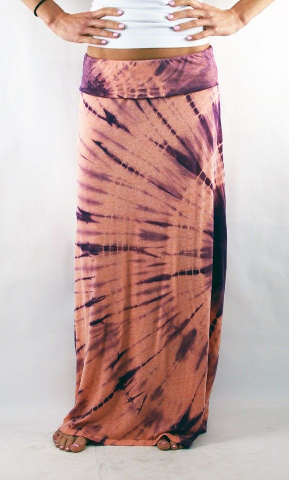 luxurious tye dye maxi skirts