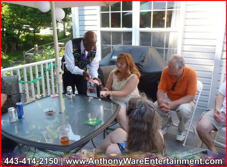Family Reunion Entertainer HIRE Anthony Ware. He is a professional entertainer/magician in Baltimore, MD… CALL (443) 414-2150 for bookings and inquiries!
