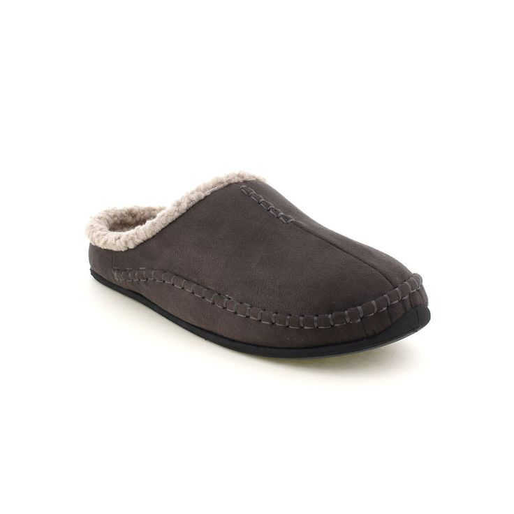 Deer Stags Slipperooz Nordic Men's Clog Slippers, Size: medium (10), Grey