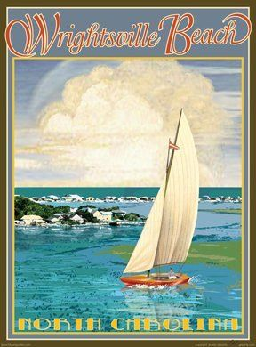 Wrightsville Beach North Carolina Art Deco Style Vintage Travel Poster by Aurelio Grisanty by Beach Town Posters, http://www.amazon.com/dp/B003FBMEEG/ref=cm_sw_r_pi_dp_cGW4rb19HQQHX