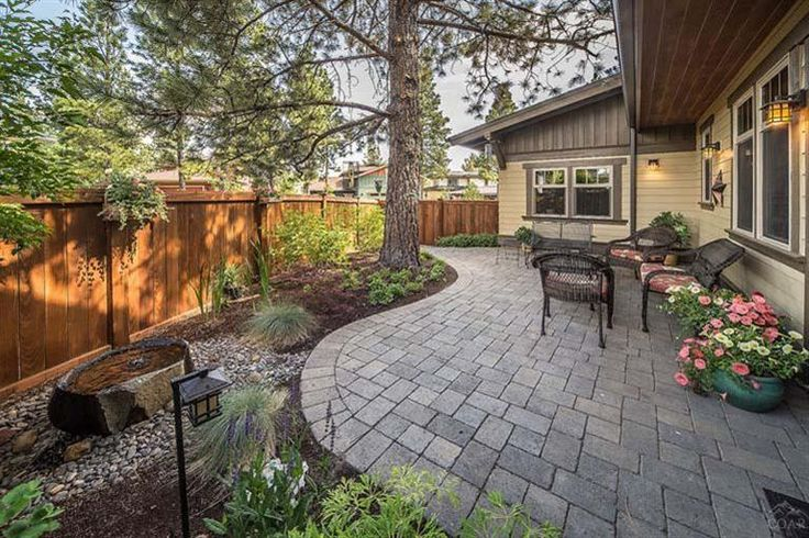 Patio landscaping for small backyard back yards for Hardscape design