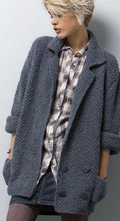 Жакет-куртка спицами