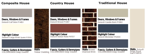Colorbond deep ocean gutters are already this colour for Ocean blue color combinations