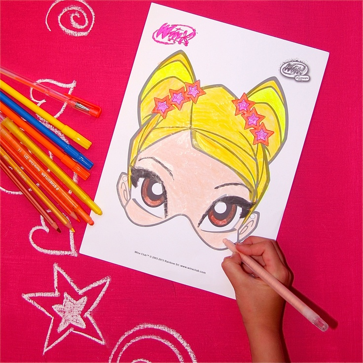 www.playwinxclub.com - Colour in Stella Magic Mask