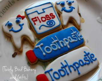 Dentist t Decorated Sugar Cookies - For the Open house!