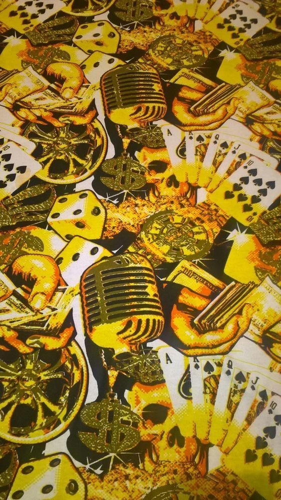 Men T Shirt 4XL Give Me Face Bling Dice Cards Money Rims $ Bright Yellow XXXXL  #GiveMeFace #GraphicTee