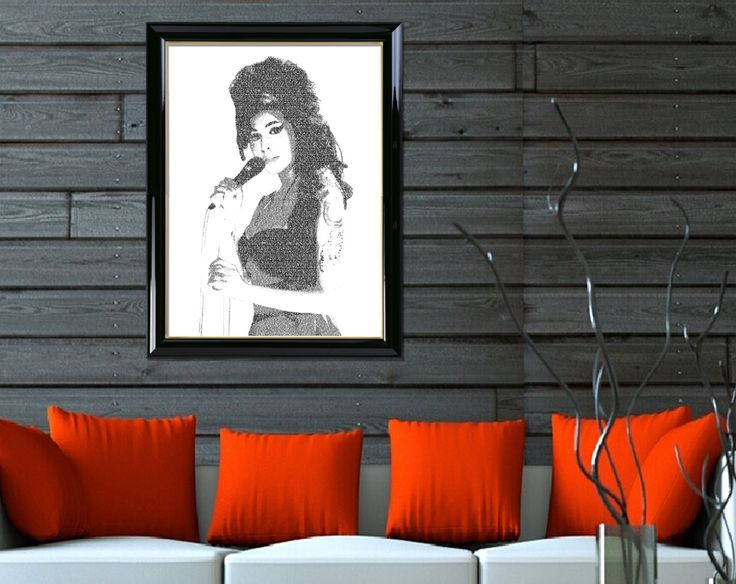 """Typography Wall Portrait Wall Art Portrait Printable of """"Amy Winehouse 01"""" Wall Decor Typographic Art Home Decor Printable Digital Download by DigitalPrintStore on Etsy #printable #gifts #vintage #retro #art #printable #portrait #digital #portrait #walldecor #homedecor #digitalprint #typographicart #amywhinehouse #typographywallart #typographyprint #typographyposter #typographyportrait #printablewallart"""