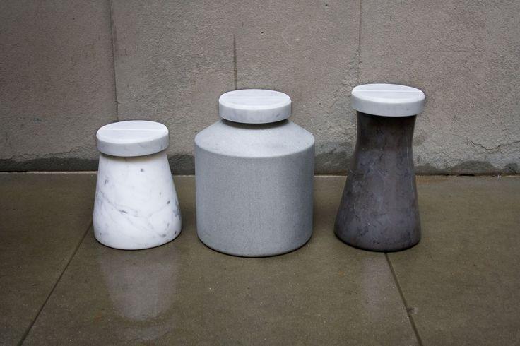 Marble Pill Totem design by Amens Studio for Casone | www.amen-studio.com #amenstudio #design #productdesign #marble #stone #product #mdw15 #pills