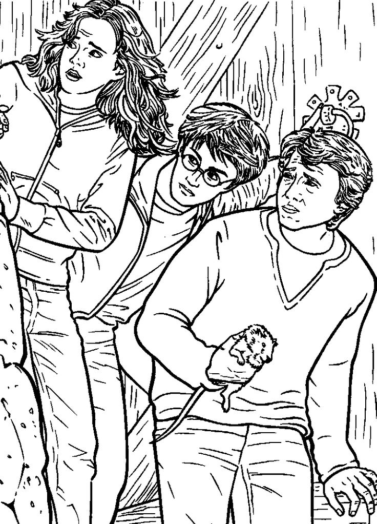 Coloring Page Harry Potter And The Prisoner Of Azkaban Kids N Fun