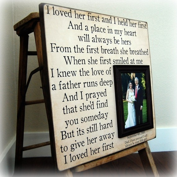 """""""I Loved Her First"""" This is the song we played at our daughter's wedding for the Father/Daughter dance. Her dad chose it but didn't tell her until it played for their dance.  M-"""