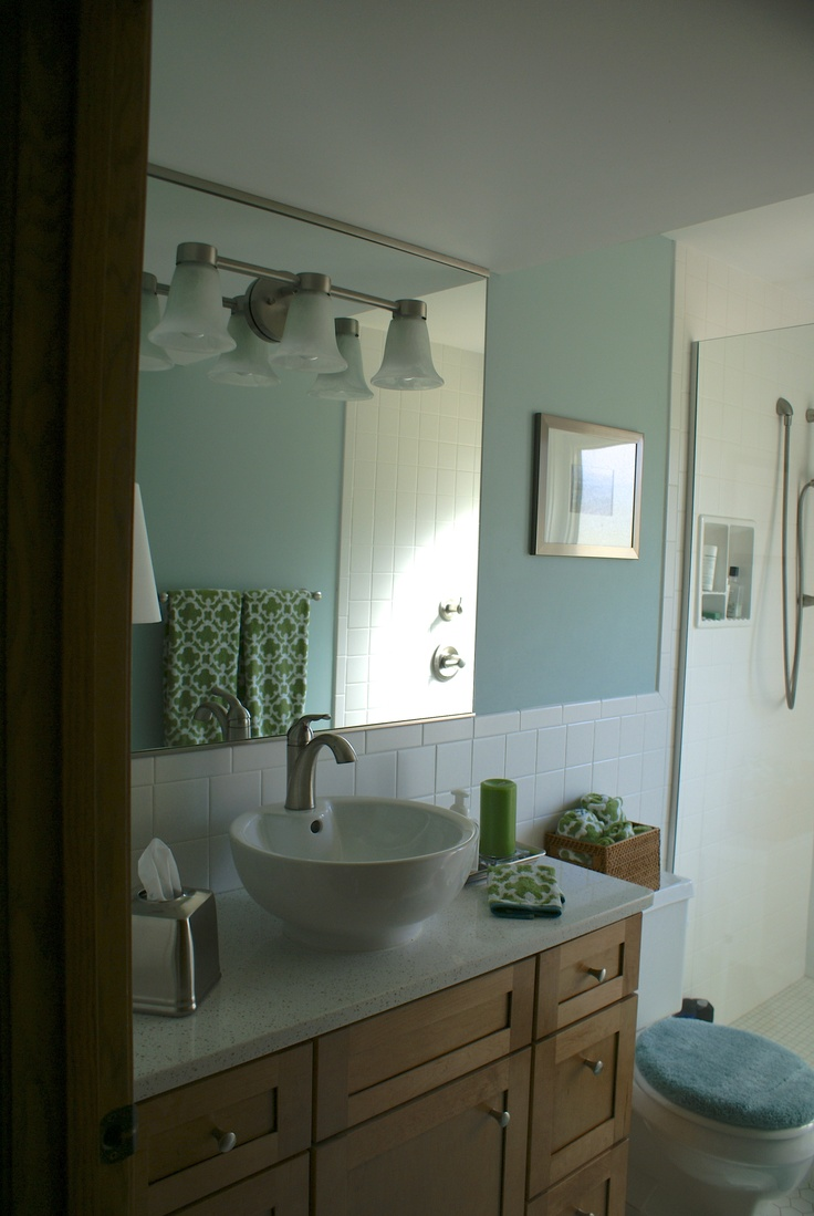 remodeled stanton bath light fixture for vanity in mirror changed