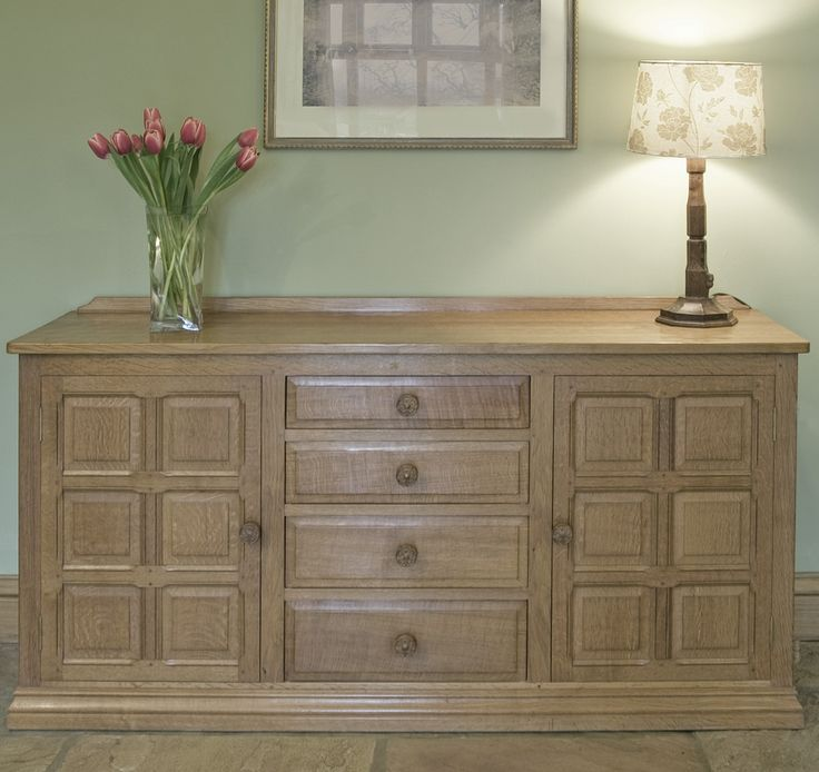 "HANDMADE SIDEBOARDS | BF307 English Oak Sideboard 5' L x 18"" D x 32"" H"