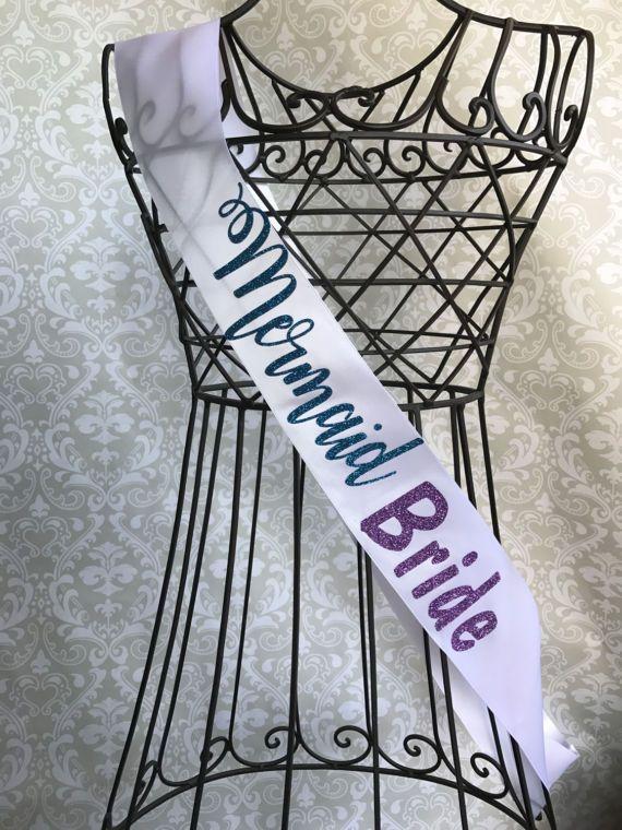 Mermaid Bride bachelorette party bridal shower sash