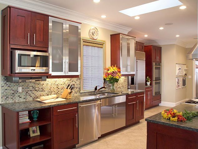 Modern Cherry Wood Kitchen Cabinets 145 best kitchens images on pinterest | home, kitchen and
