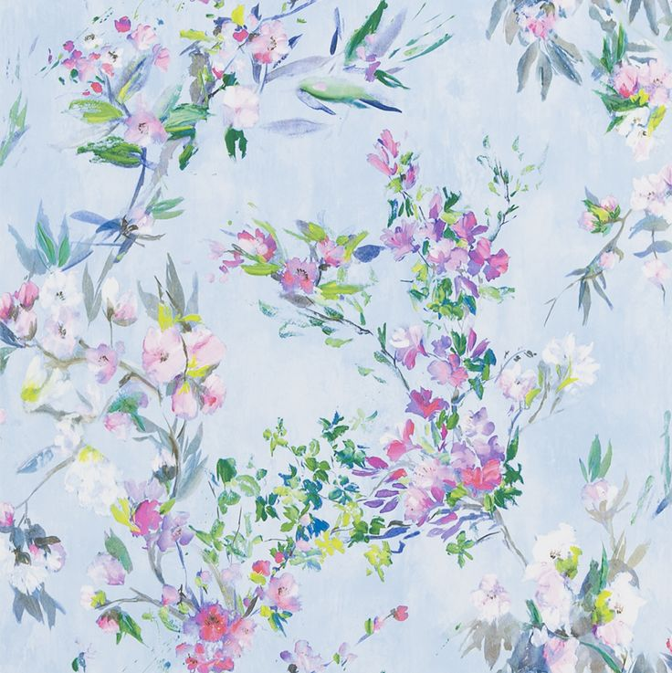 Faience Sky wallpaper by Designers Guild
