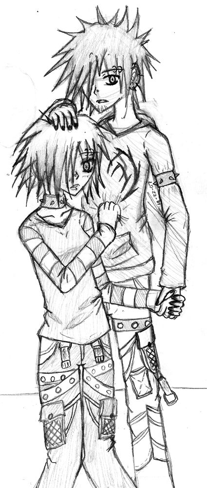emo anime coloring pages 259 - Coloring Pages Anime Couples Chibi