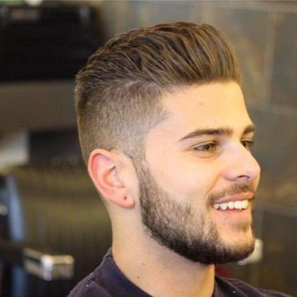 haircut taper fade men short