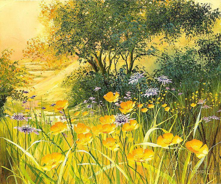 Схема вышивки «летний пейзаж с цветами» - Вышивка крестом