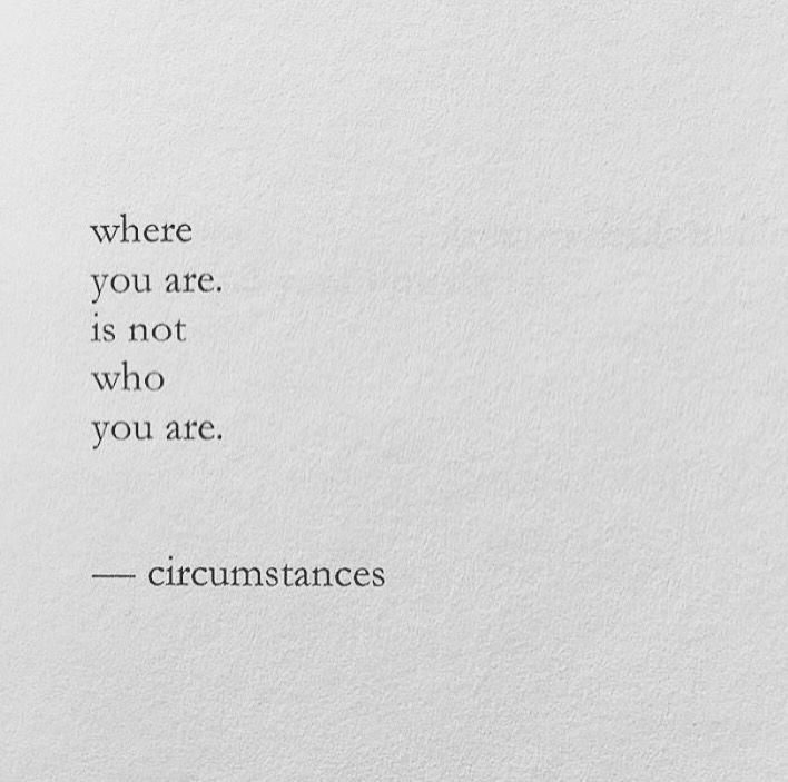 It isn't. [Nayyirah Waheed]