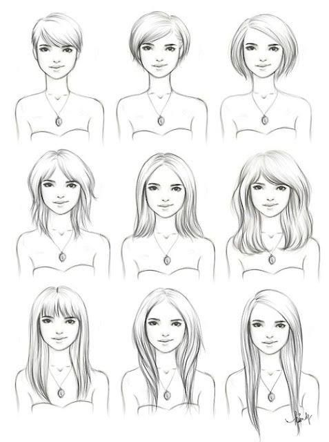 Different hairstyles on a slightly Square to Oval face shape.