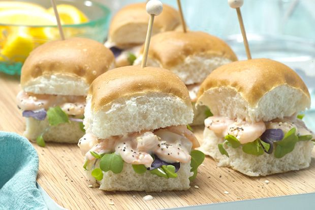 Try out this tasty shrimp aioli slider for your next picnic.