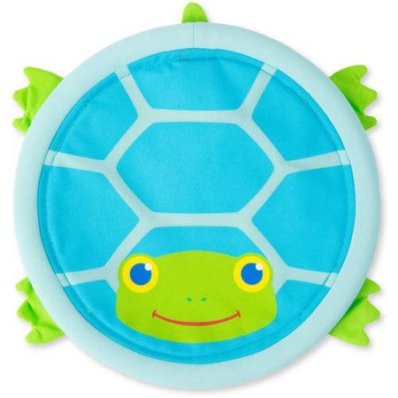Melissa & Doug Sunny Patch Dilly Dally Turtle Flying Disc Catching Activity, Multicolor