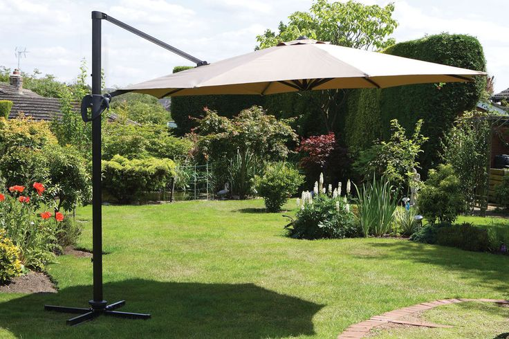 Garden Parasol / Shade 3.5m Cantilever Parasol  (Quality item)