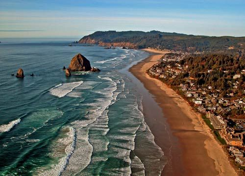 Canon beach, Oregon~The town is so cute, I love going there.