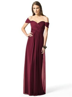 beautiful burgundy bridesmaids dress full length front i love it :)