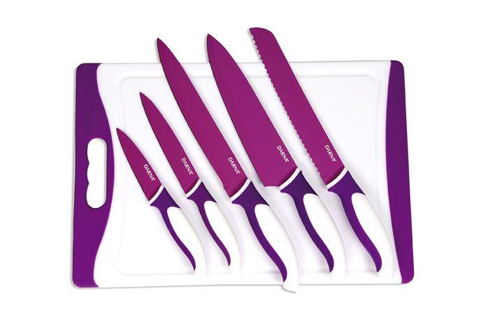 Tabla de cortar 5 cuchillos revestidos de cer mica - Tabla de cuchillos ...