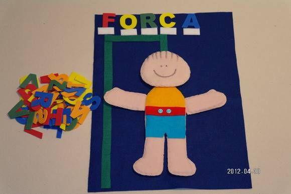 Forca (a  partir  de  6  anos ) É um  jogo de adivinha-ção de palavras.Ajuda na alfabetização e desenvolve  o raciocínio. Um jogador pensa em uma palavra:por exemplo lápis e coloca logo abaixo da forca, 5 traci nhos, um  para cada  letra.
