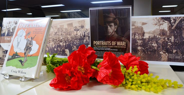 Travelling exhibition 'Portraits of War' at Mosman Library, February 2017
