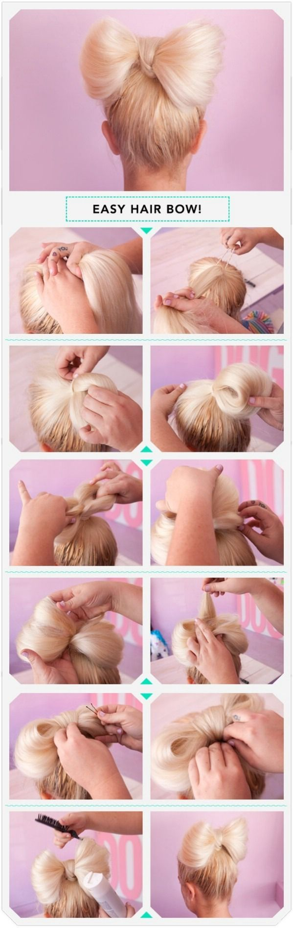 How To Put Your Hair In A Bow!How to bow your hair!Please like and for more tips go check out my profile. A follow would be lovely ✌️!