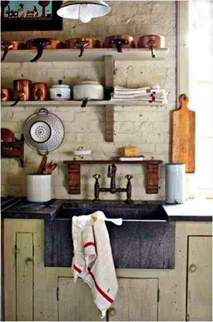 Aranżancja kuchni w stylu rustykalnym