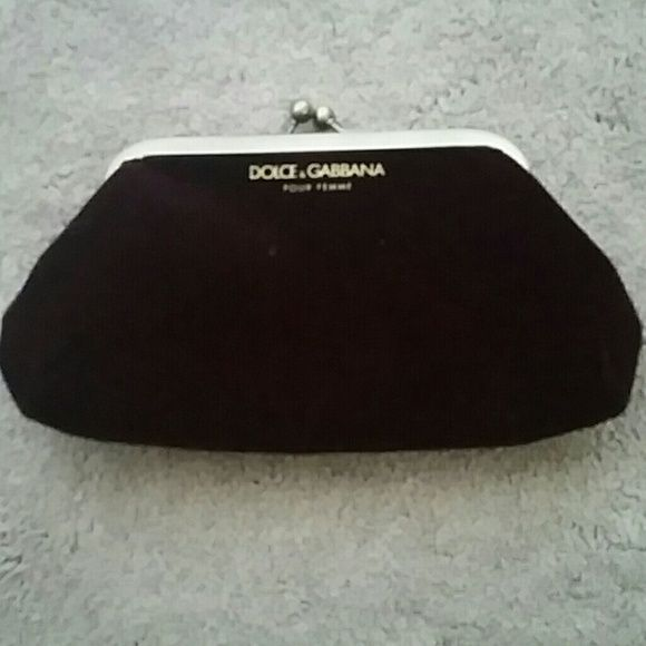 Dolce & Gabbana makeup pouch Never been used gold and burgundy makeup pouch Dolce & Gabbana Accessories