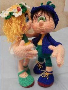 девочка Ромашка и мальчик Колокольчик