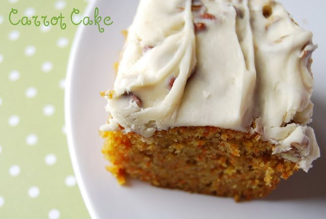 Simple Carrot Cake...just carrot cake. No pineapple, no raisins...just good ol' carrot cake! Ummmmm!!!