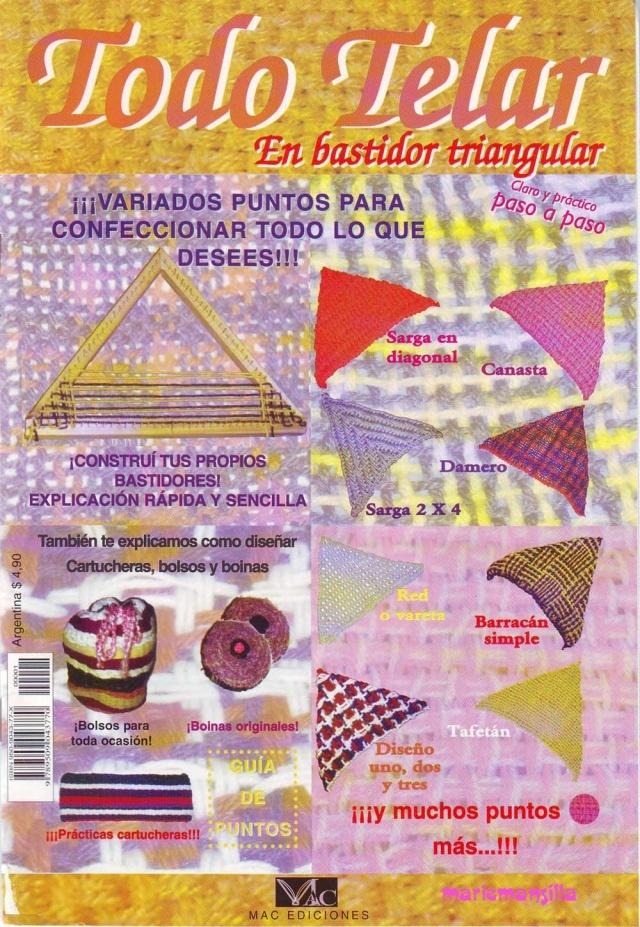 todo telar bastidor triangular