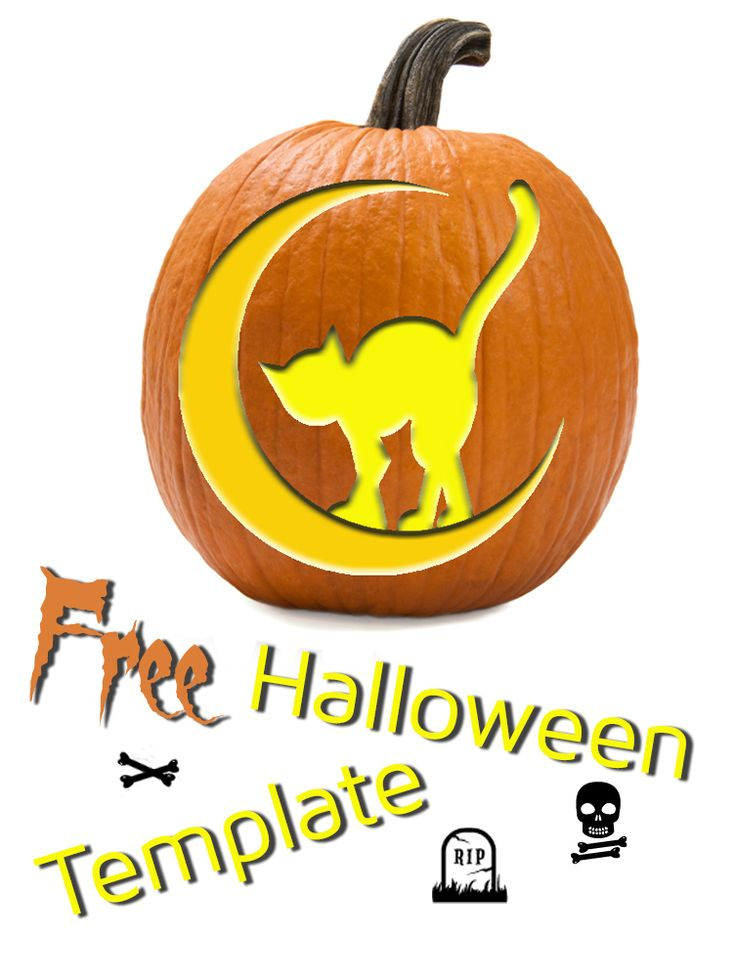 Cat On The Moon Template Classic Halloween Printable Diy Diy