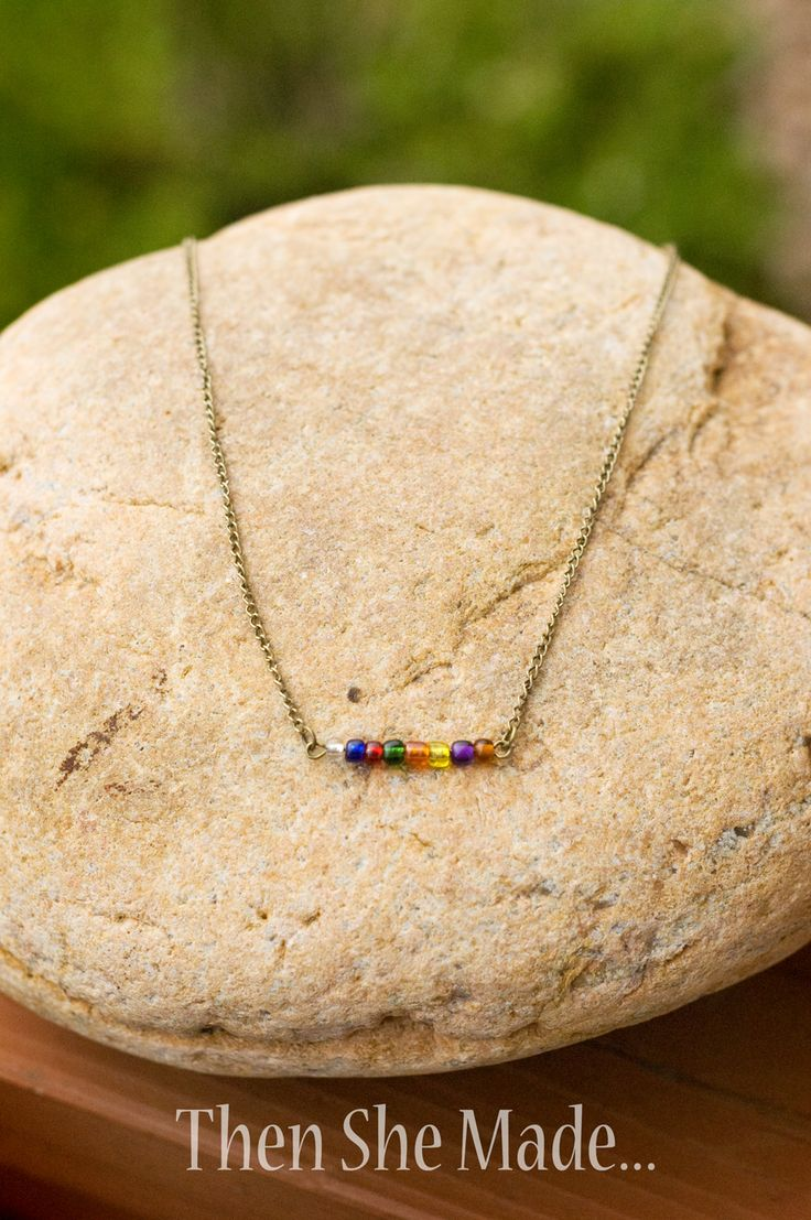 Then she made...: DIY Simple Necklace Tutorial---use with the Good News/ wordless book story