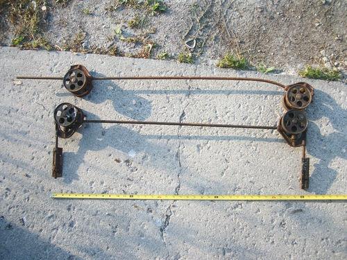 Set Of 2 Vintage Pocket Door Rollers Tracks Mounting Brackets Door Brackets